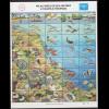 Palau-Inseln: 1986, Zdr.-Kleinbogen Leben am Korallenriff (überwiegend Fische)