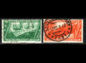 Italien: 1932, 10 Jahre faschistische Regierung (nur Flugpostmarken)