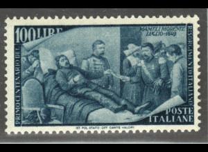 Italien: 1948, Erhebung 1848 100 L. (postfrischer Höchstwert)
