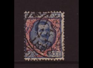 Italienisch-Libyen: 1915, König Viktor Emanuel 5 Lire (zentr. gestempelter Hauptwert)