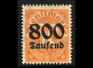 DR-Dienstmarken: 1923, 800 Tsd. Mk. auf 30 Pfg.; Abart (gepr. Winkler BPP)