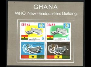 Ghana: 1966, Blockausgabe Weltgesundheitsorganisation WHO