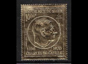 Niger: 1971, Goldmarke Präsident Charles de Gaulle (M€ 95,-)