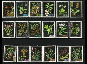 Venezuela: 1962, Freimarken Einheimische Orchideen