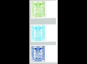 Neuseeland: 1986, Stempelmarken Staatswappen (ohne WZ)