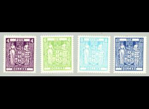 Neuseeland: 1968, Stempelmarken Staatswappen (mit WZ 8)
