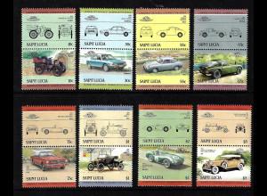 St. Lucia: 1984, Zusammendruckpaare Automobile