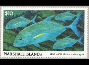 Marshall-Inseln: 1989, Freimarke Fische 10 $