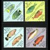 Nevis: 1987, Zdr.-Paare Fische am Korallenriff (Dreiecksmarken als Zusammendruckpärchen)