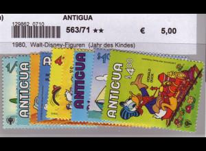 Antigua: 1980, Walt-Disney-Figuren (Jahr des Kindes)
