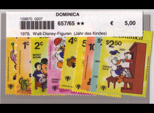 Dominica: 1979, Musizierende Walt-Disney-Figuren (Jahr des Kindes)