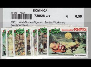 Dominica: 1981, Walt-Disney-Figuren: Santas Workshop (Weihnachten)