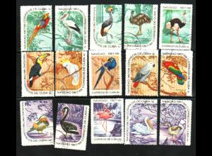 Kuba: 1967, Vögel (Einzelmarken)