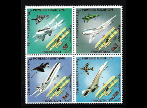 Pakistan: 1978, Viererblock Flugzeuge