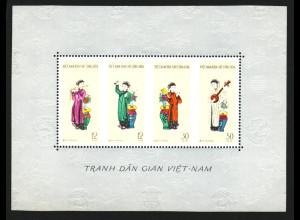 Nord-Vietnam: 1961, Blockausgabe Schriftsteller- und Künstlerkongress (Motiv Musik; ohne Gummi verausgabt)