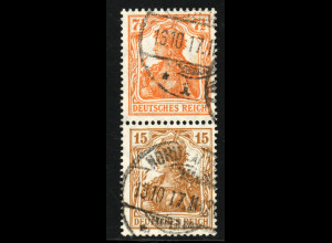 1916, Germania: 7½ + 15 (gepr. Infla, M€ 200,-)