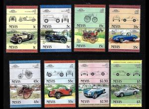 Nevis: 1984, Zusammendruckpaare Automobile