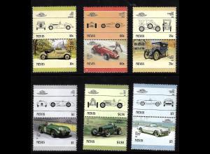 Nevis: 1986, Zusammendruckpaare Automobile