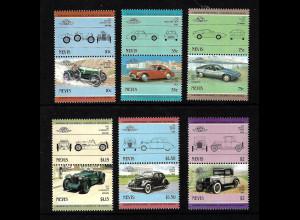 Nevis: 1985, Zusammendruckpaare Automobile