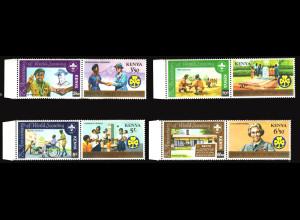 Kenia: 1982, Zusammendruckpaare Pfadfinder