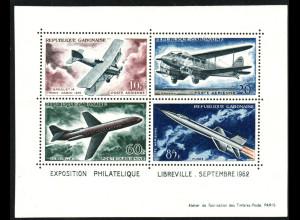 Gabun: 1962, Blockausgabe Flugzeuge