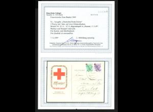 Franz. Zone - Baden: Rotes Kreuz auf Sonderpostkarten (Fotobefund BPP)
