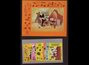 Dominica: 1979, Walt-Disney-Figuren: Jahr des Kindes (Satz und Blockausgabe)