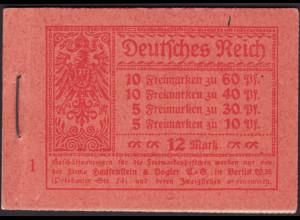 1920, Markenheftchen Germania, gute Type mit nicht durchgez. H-Blatträndern