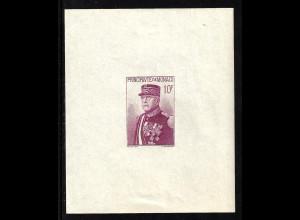 Monaco: 1938, Blockausgabe zum Nationalfeiertag (mit Fehlern, die Einzelmarke ist postfrisch