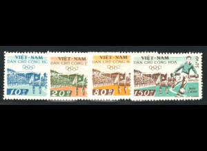 Nord-Vietnam: 1958, Dienstmarken: Eröffnung des Stadions von Hanoi (Fußballspieler; ohne Gummi verausgabt)
