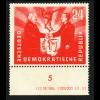 DDR: 1951, Oder-Neiße-Linie 24 Pfg. (Unterrandstück mit Druckvermerkt)