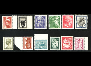 Griechenland: 1954, Freimarken Antike griechische Kunst (M€ 300,-)