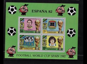 Tansania: 1982, Blockausgabe Fußball-WM Spanien