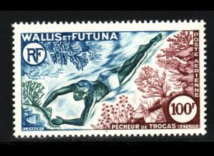 Wallis- und Futuna-Inseln: 1962, Meeresschnecken (nur Höchstwert Taucher)