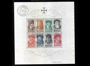 Portugal: 1945, Blockausgabe Berühmte Seefahrer (M€ 200,-)