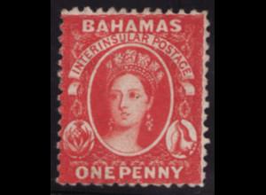Bahamas: 1860/62, Königin Victoria 1 P. (etwas erhöht gepr. Georg Bühler)