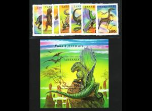 Tansania: 1994, Dinosaurier (Satz und Blockausgabe)