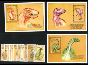 Gambia: 1992, Dinosaurier (Satz und Blocksatz)