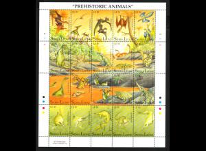 Sierra Leone: 1992, Zdr.-Bogen Prähistorische Tiere