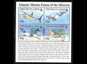 Tristan da Cunha: 1998, Blockausgabe Prähistorische Wassertiere