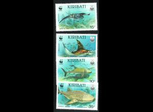 Kiribati: 1991, Riesenmanta und Walhai (WWF-Ausgabe)