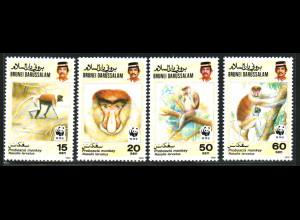 Brunei: 1991, Nasenaffe (WWF-Ausgabe)