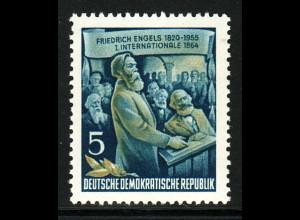 DDR: 1955, F. Engels 5 Pfg. mit seltenem WZ 2 XI