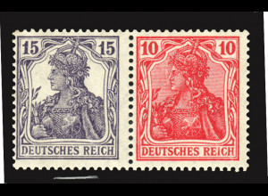 1918, Germania: 15 + 10 (kleiner Falzrest, M€ 180,-)