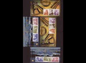 Australien: 1999, Blocksatz Briefmarkenausstellung Melbourne Seefahrer