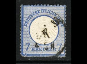 """Kl. Brustschild 7 Kr., Plattenfehler: """"Rahmenbruch unter linker 7"""""""