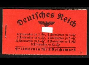 1940, Markenheftchen Hindenburg ONr. 13 (bessere Type)