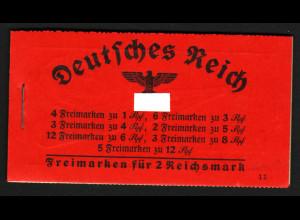 1940, Markenheftchen Hindenburg ONr. 11 (bessere Type, M€ 250,-)