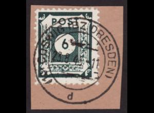 Ost-Sachsen: Ziffern 6 Pfg. in der guten Farbe schwarzblaugrün (gepr. BPP)