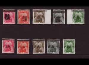 Algerien: 1962, Portomarken-Überdruckausgabe beide Ausgaben